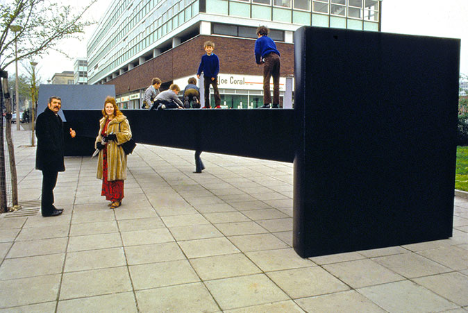 Garth Evans' untitled sculpture on the Hayes, Cardiff, 1972