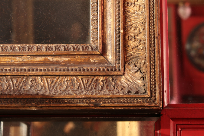 Detail of the gilded frame of The Snake in the Grass by Sir Joshua Reynolds. Photo by Tom Ryley