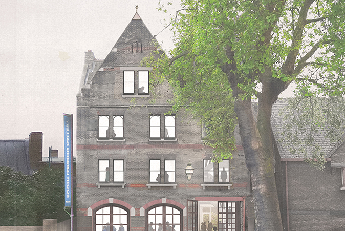 View of proposed exterior of the former Peckham Road Fire Station by 6a architects