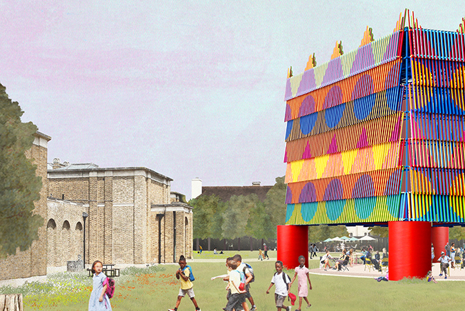 Design for The Colour Palace at Dulwich Picture Gallery