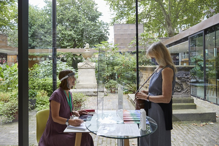Visitors to the Garden Museum after it reopened following national lockdown, © Janie Airey/Art Fund 2020