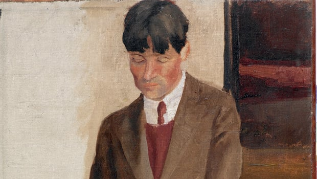 Study of Stanley Spencer, 1924  by Richard Carline - Art Funded in 2007