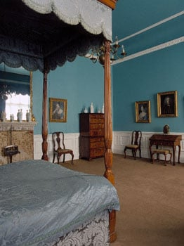 The blue bedroom