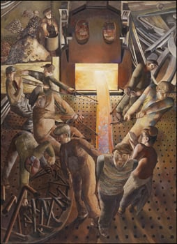 Sir Stanley Spencer, 'Furnaces' from Shipbuilding on the Clyde, 1946