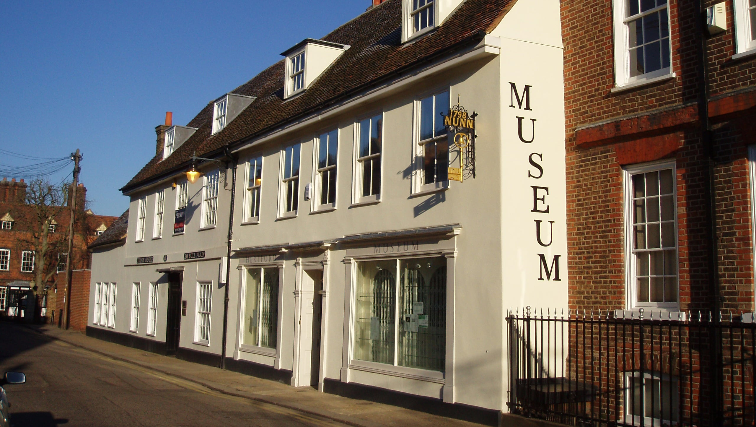 Hertford Museum from the outside