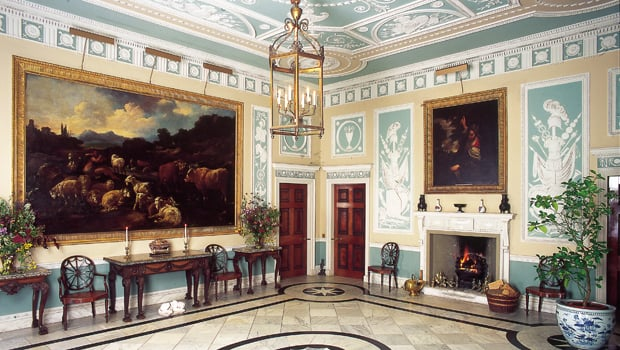 The opulent entrance hall