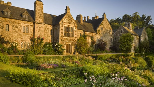 The East front of Cotehele, seen over the East Terrace garden