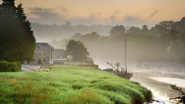 The Quay on the Tamar River at dawn
