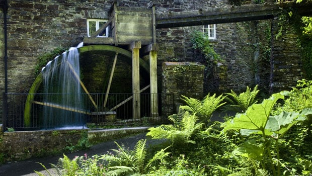 The waterwheel on the mill at Cotehele