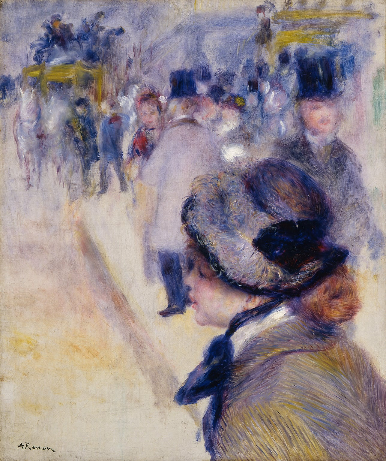 Pierre Auguste Renoir, La Place Clichy, 1880 - Acquired with assistance from the Wolfson Foundation in 1987