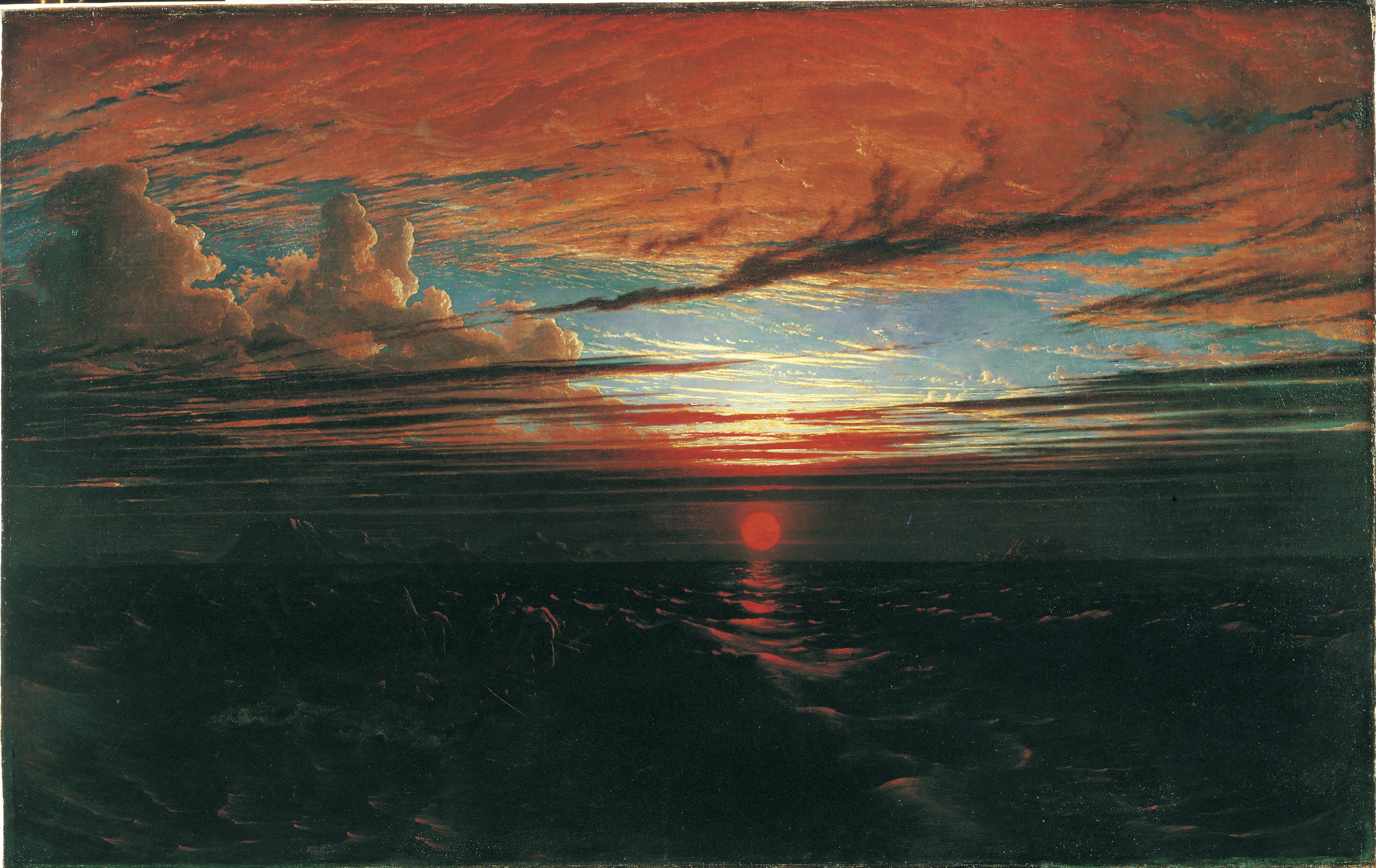 Francis Danby, Sunset at Sea after a Storm, 1824, Bristol Museum and Art Gallery, Art Funded 1983 - © Bristol Culture
