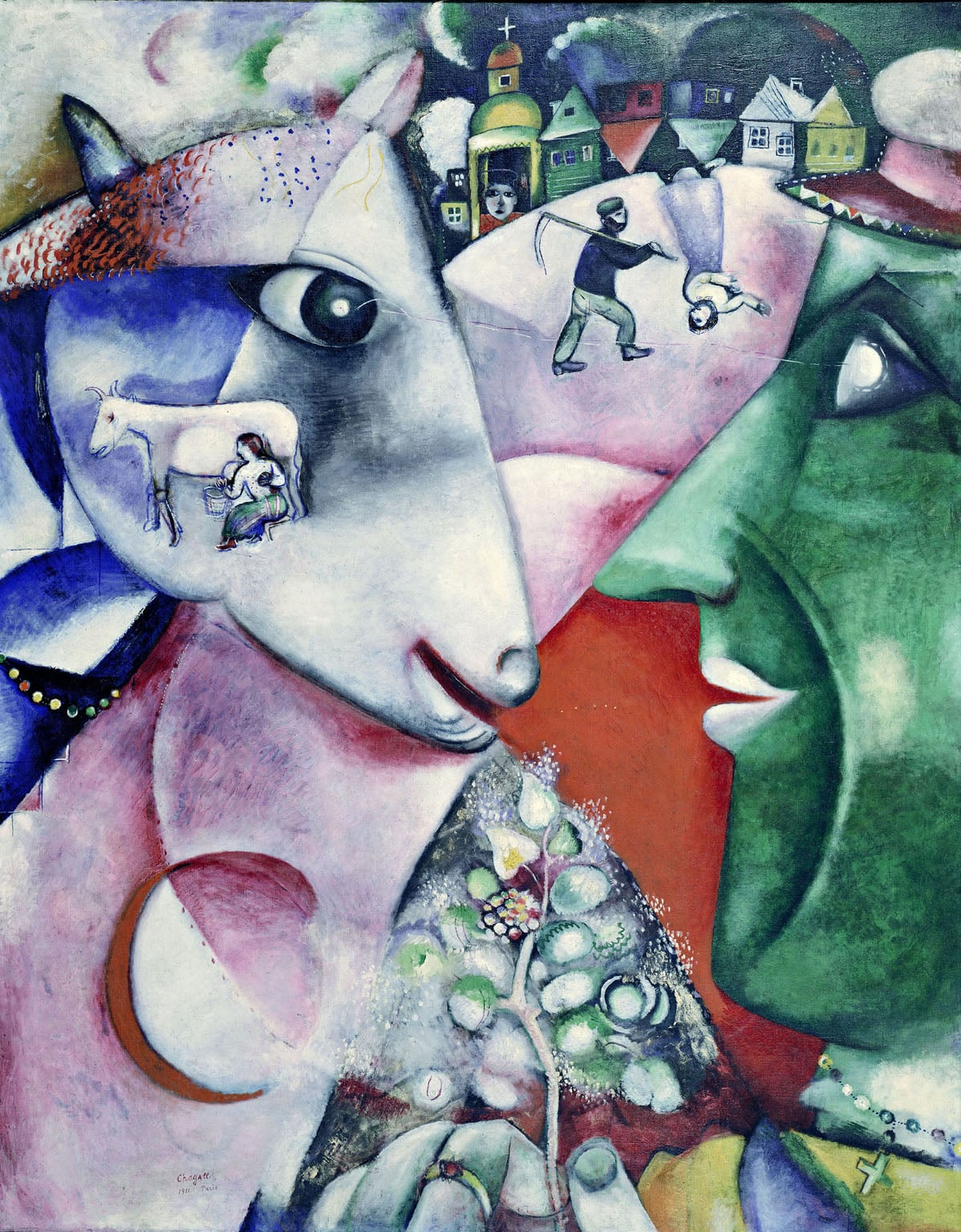 1. Chagall: Modern Master, Tate Liverpool - Marc Chagall, I and the Village, 1911