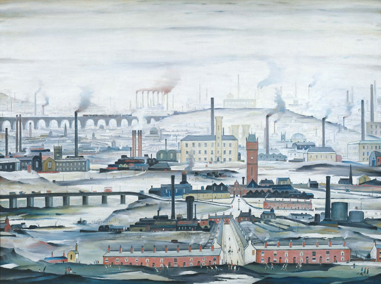 4. Lowry and the Painting of Modern Life, Tate Britain - L S Lowry, Industrial Landscape, 1955