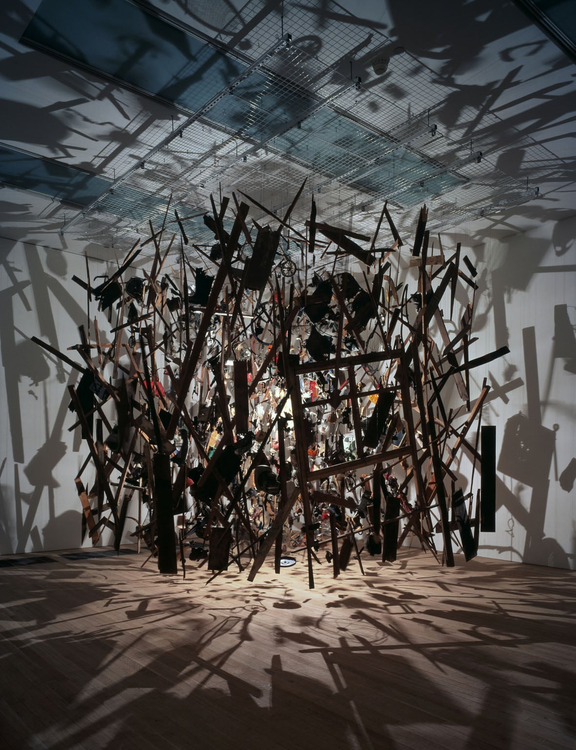 10. Cornelia Parker, Cold Dark Matter: An Exploded View, 1991 - Tate Collection (not on display)