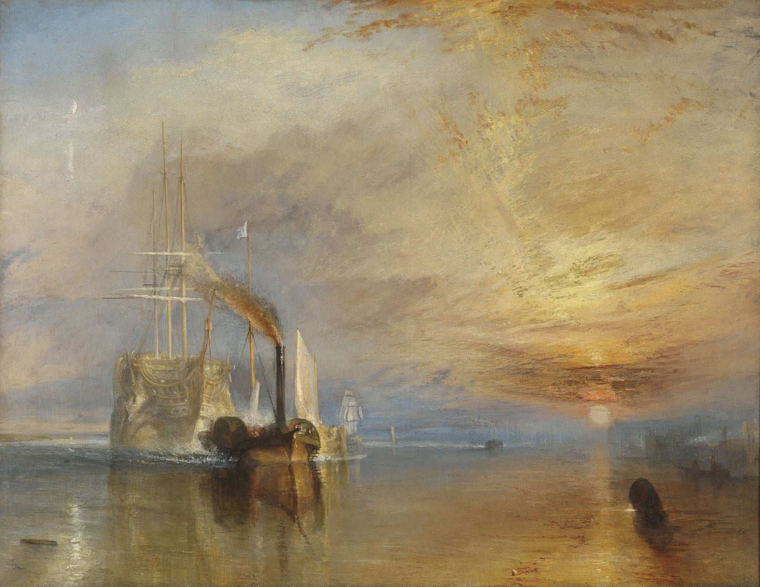 6. JMW Turner, The Fighting Temeraire, 1839 - National Gallery, London (on display)