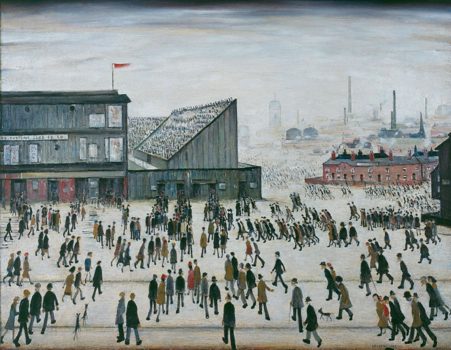 L s lowry going to the match 1953 the professional footballers