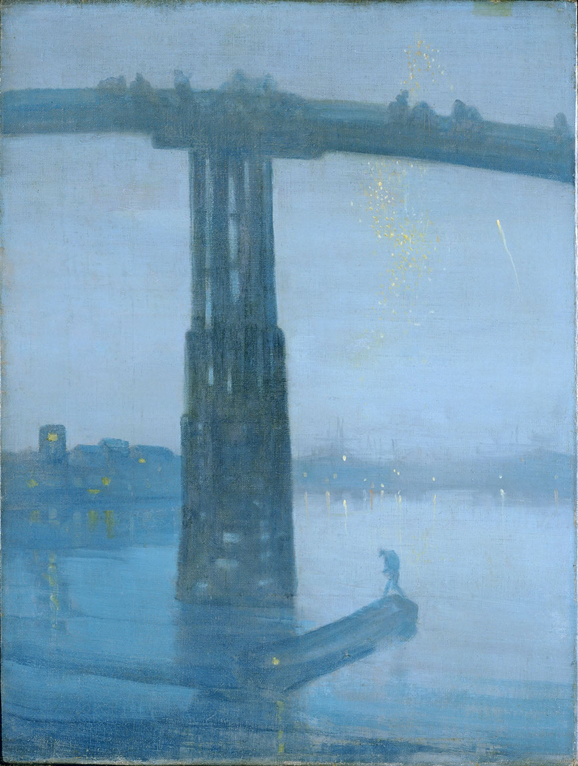 9. James Whistler, Nocturne: Blue and Gold – Battersea Bridge, c.1872–5 - Tate Britain, London (on display)