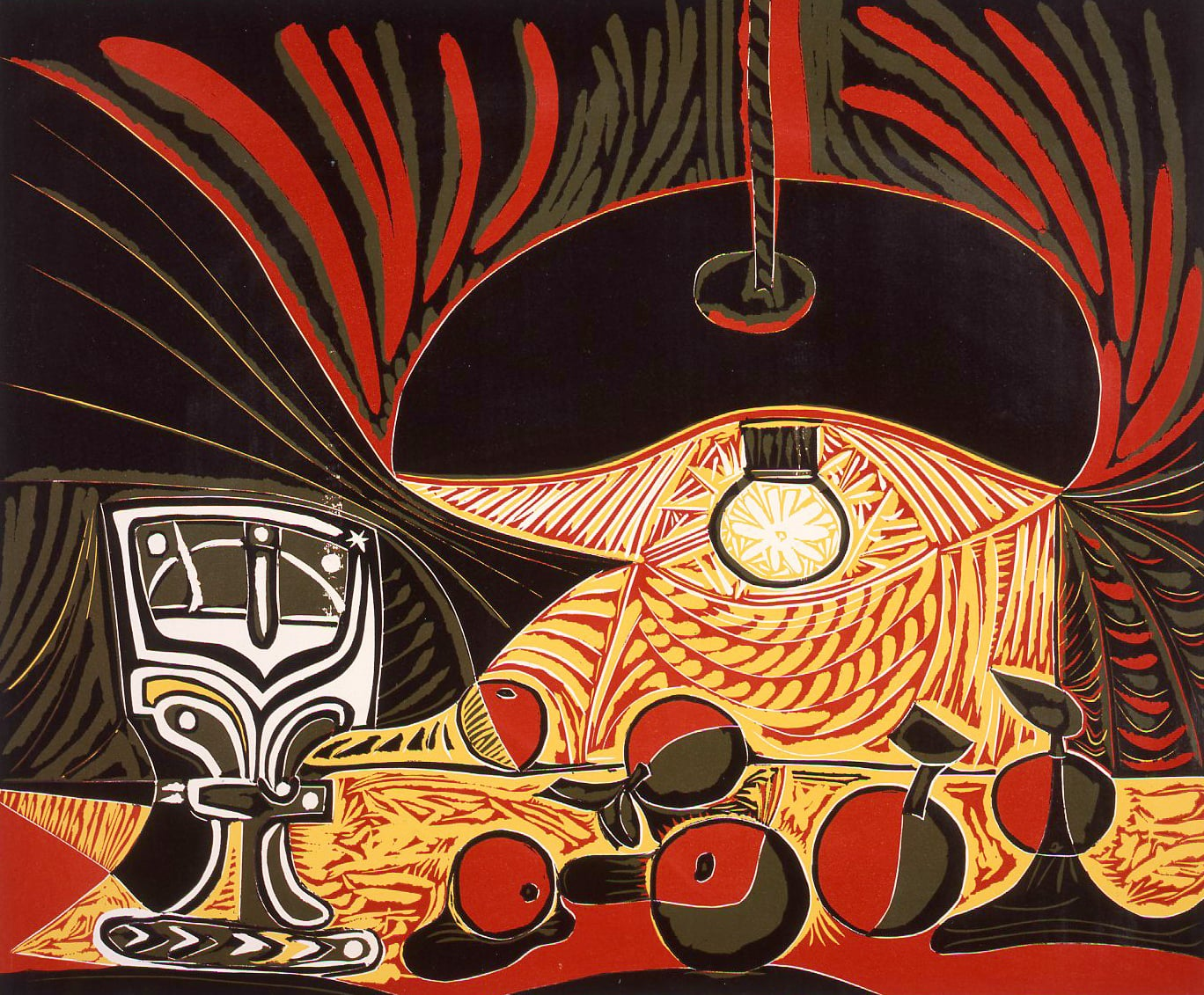 Pablo Picasso, Still Life under the Lamp, 1962
