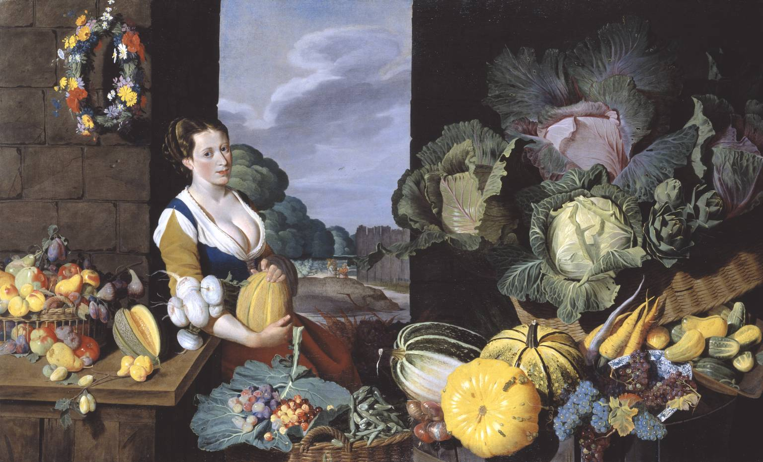 2. Sir Nathaniel Bacon, Cookmaid with Still Life of Vegetables and Fruit, c.1620–5 - Tate Britain, London