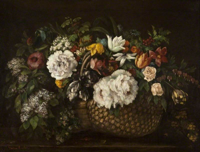3. Gustave Courbet (1819–1877) - Baskets of Flowers, 1863, Kelvingrove Art Gallery and Museum, Glasgow