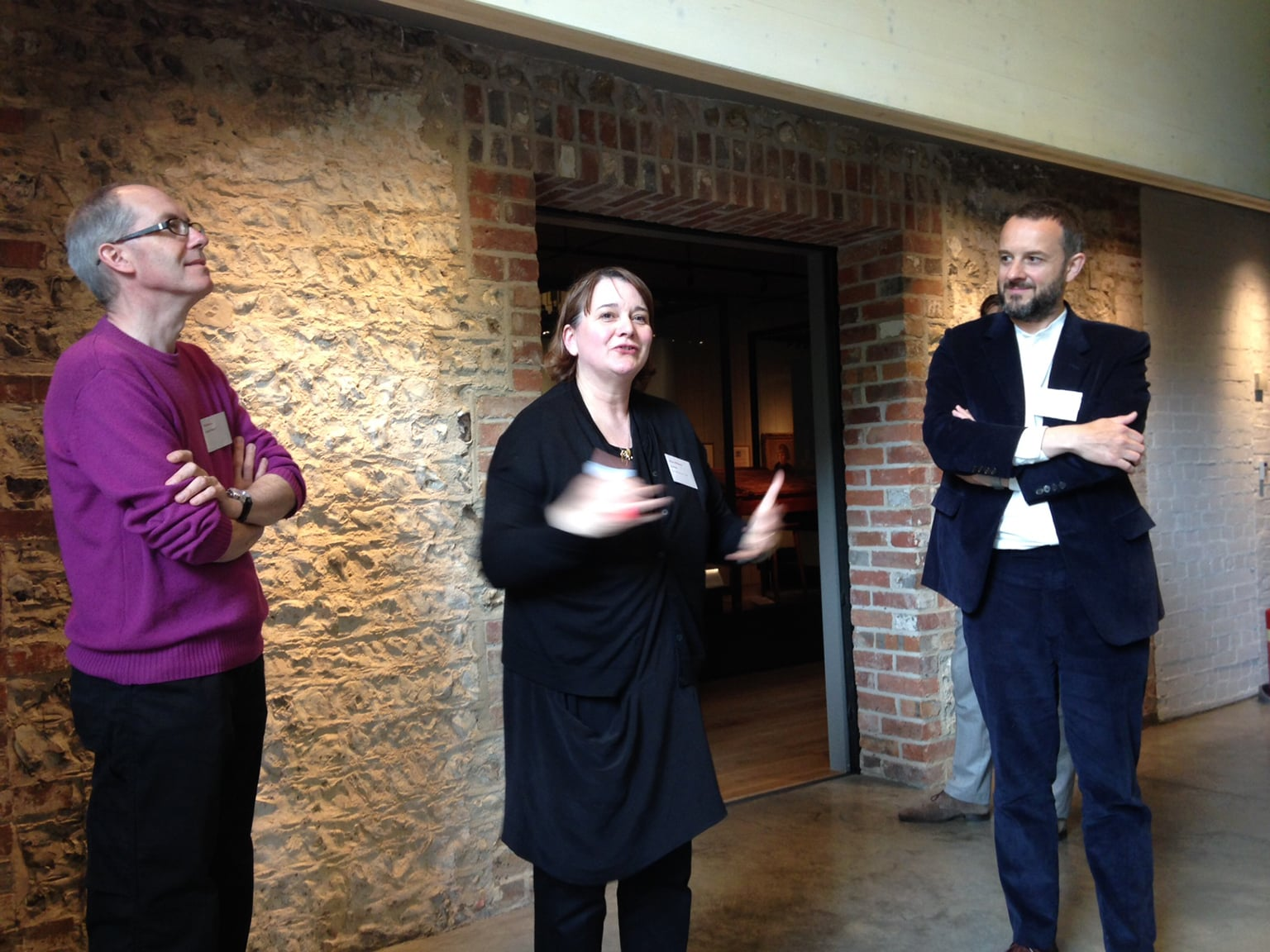 The museum's staff, including Director Hilary Williams, give an introduction -