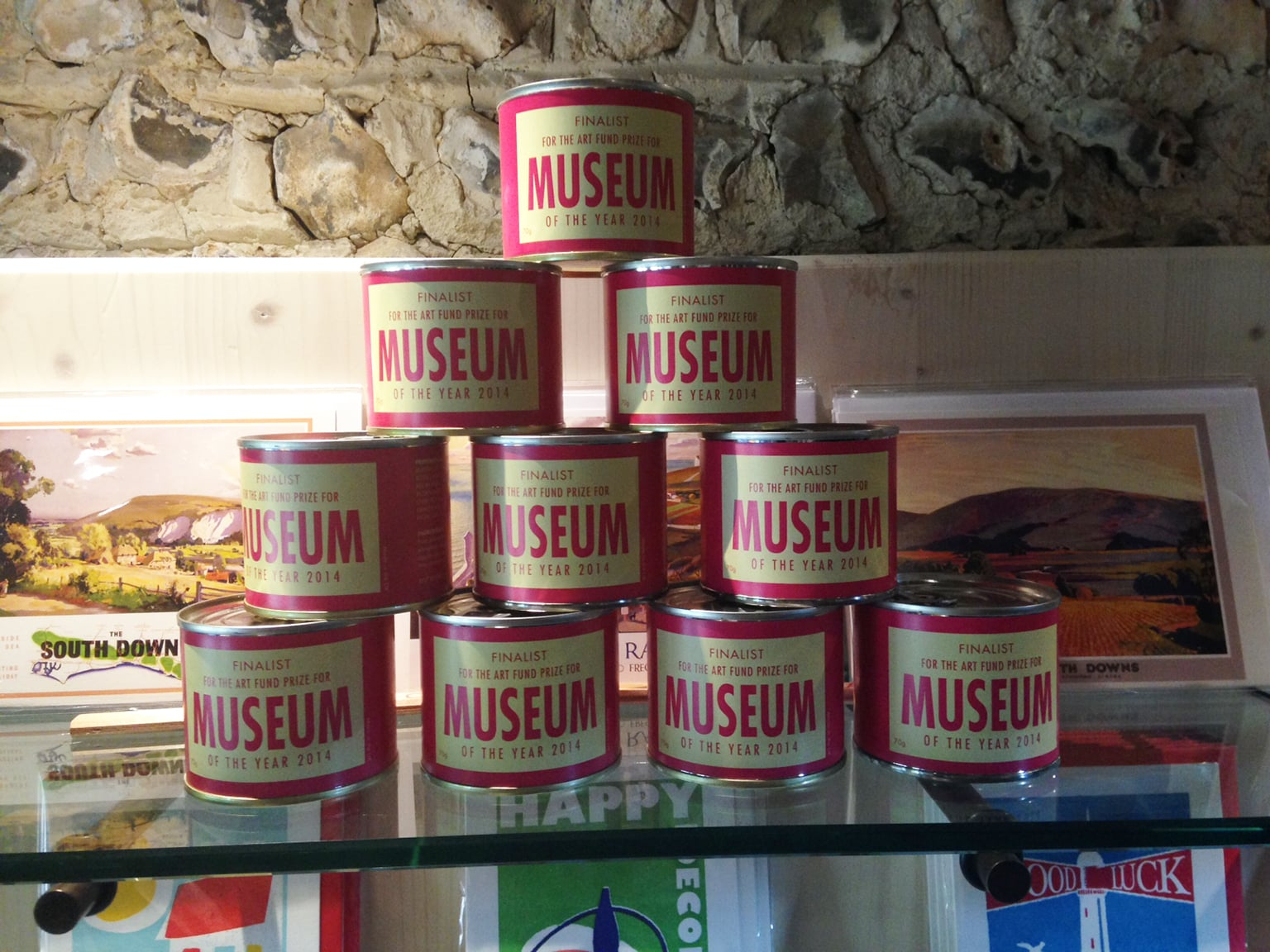 Museum of the Year cake tins -