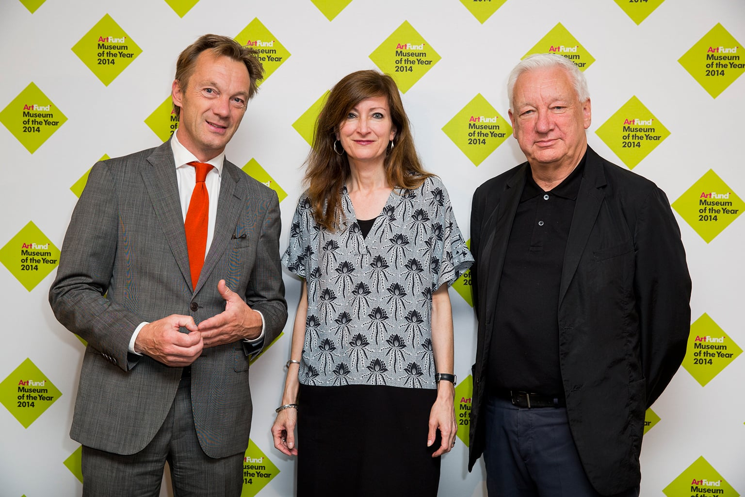 Judges Wim Pijbes, Sally Bacon and Michael Craig-Martin