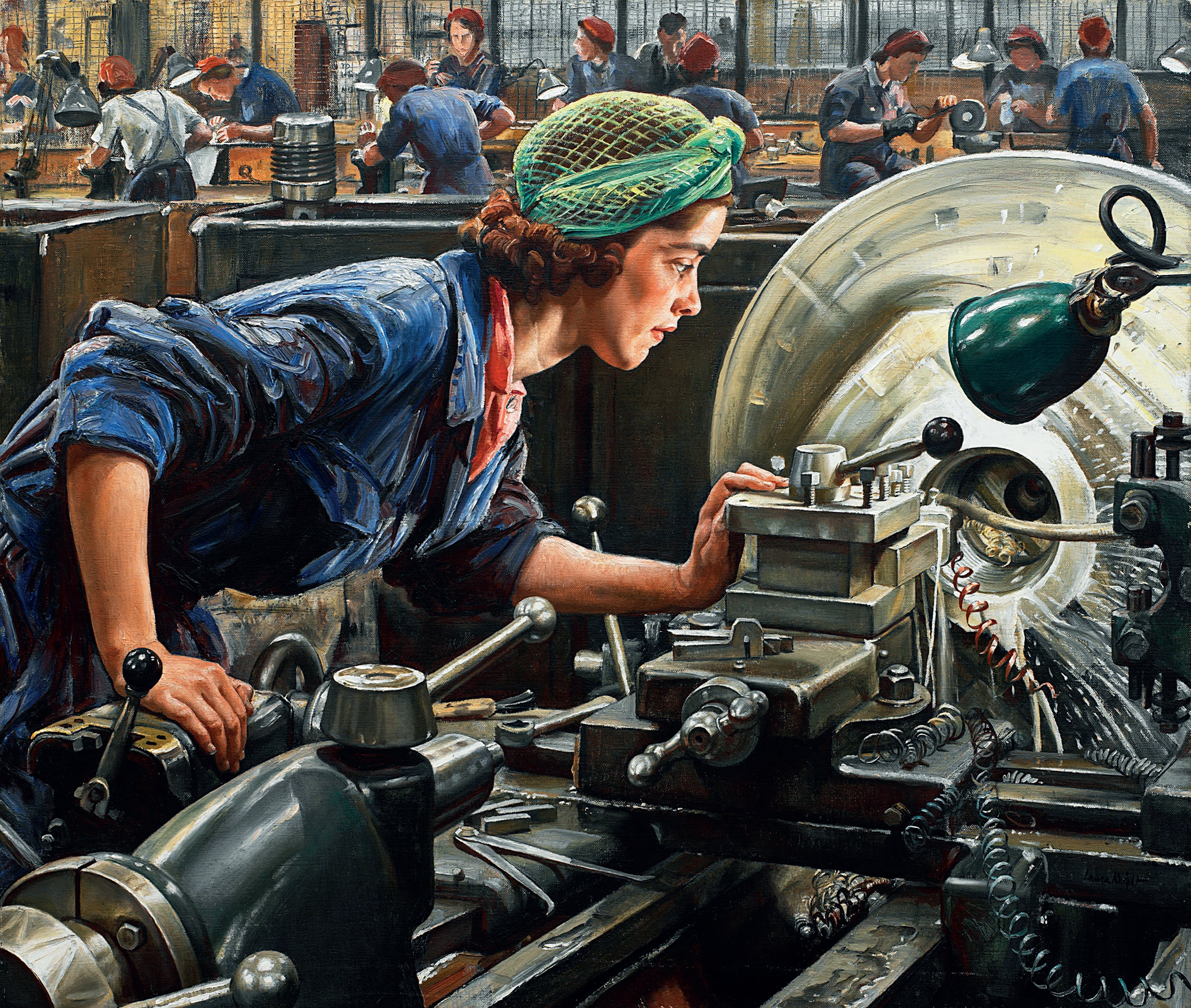 3. Dame Laura Knight, Ruby Loftus screwing a Breech-ring, 1943, Imperial War Museums - Image courtesy of Imperial War Museums