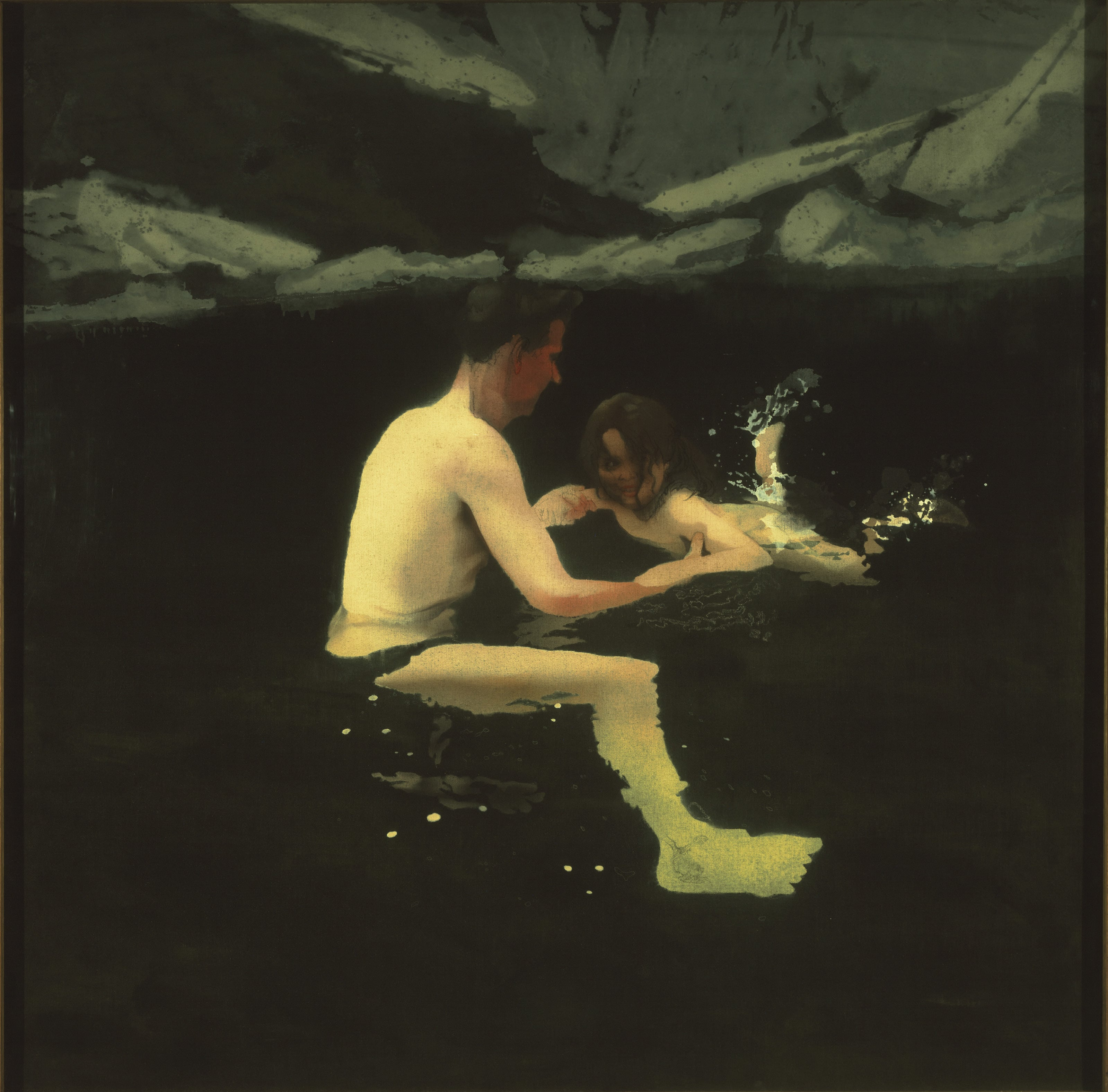 6. Michael Andrews, Melanie and Me Swimming, 1978-9, Tate - © The Estate of Michael Andrews, courtesy James Hyman Gallery, London. Image courtesy of Tate, London 2014