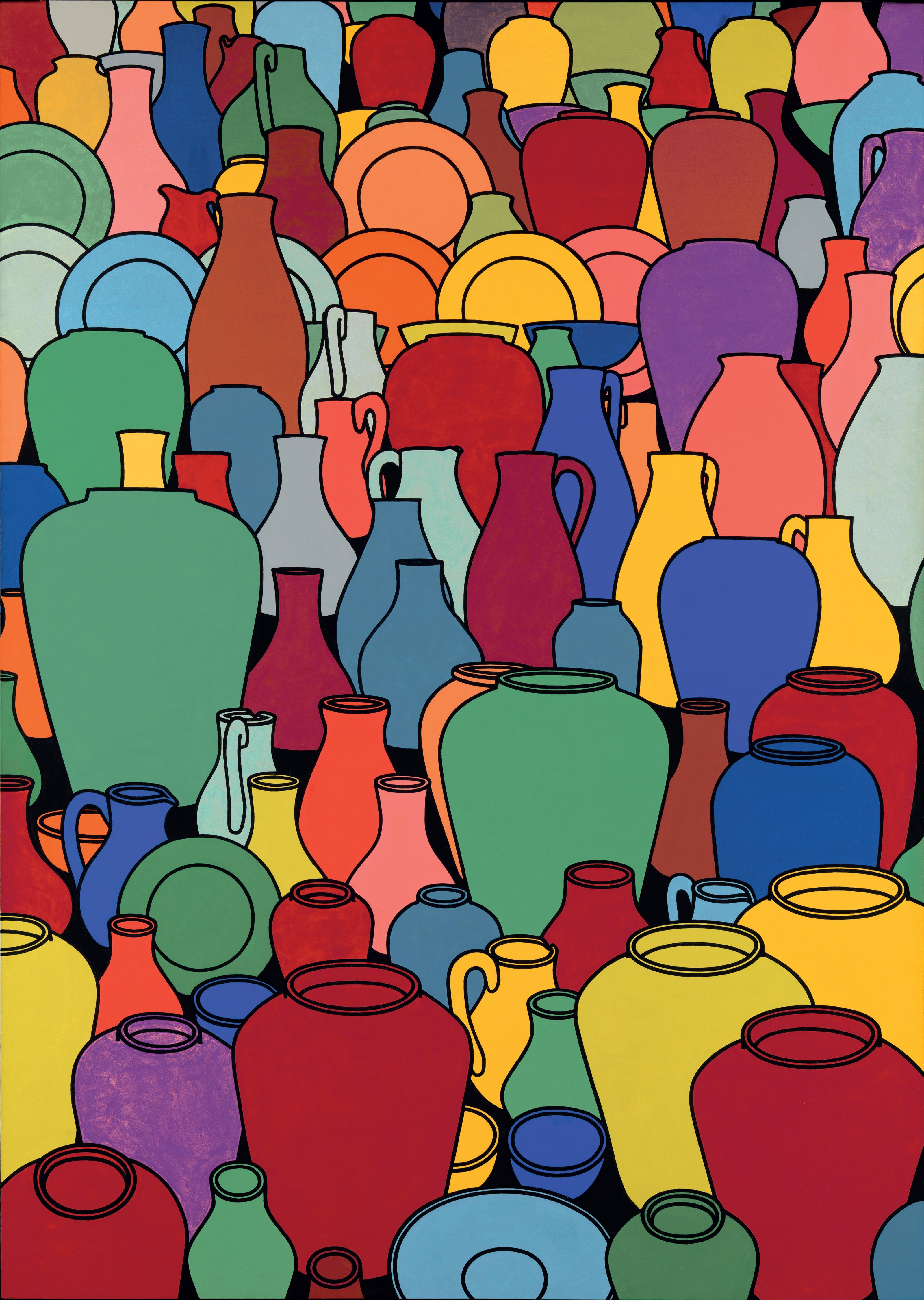 9. Patrick Caulfield, Pottery, 1969, Tate - © The Estate of Patrick Caulfield. All Rights Reserved, DACS 2014. Image courtesy of Tate, London 2014