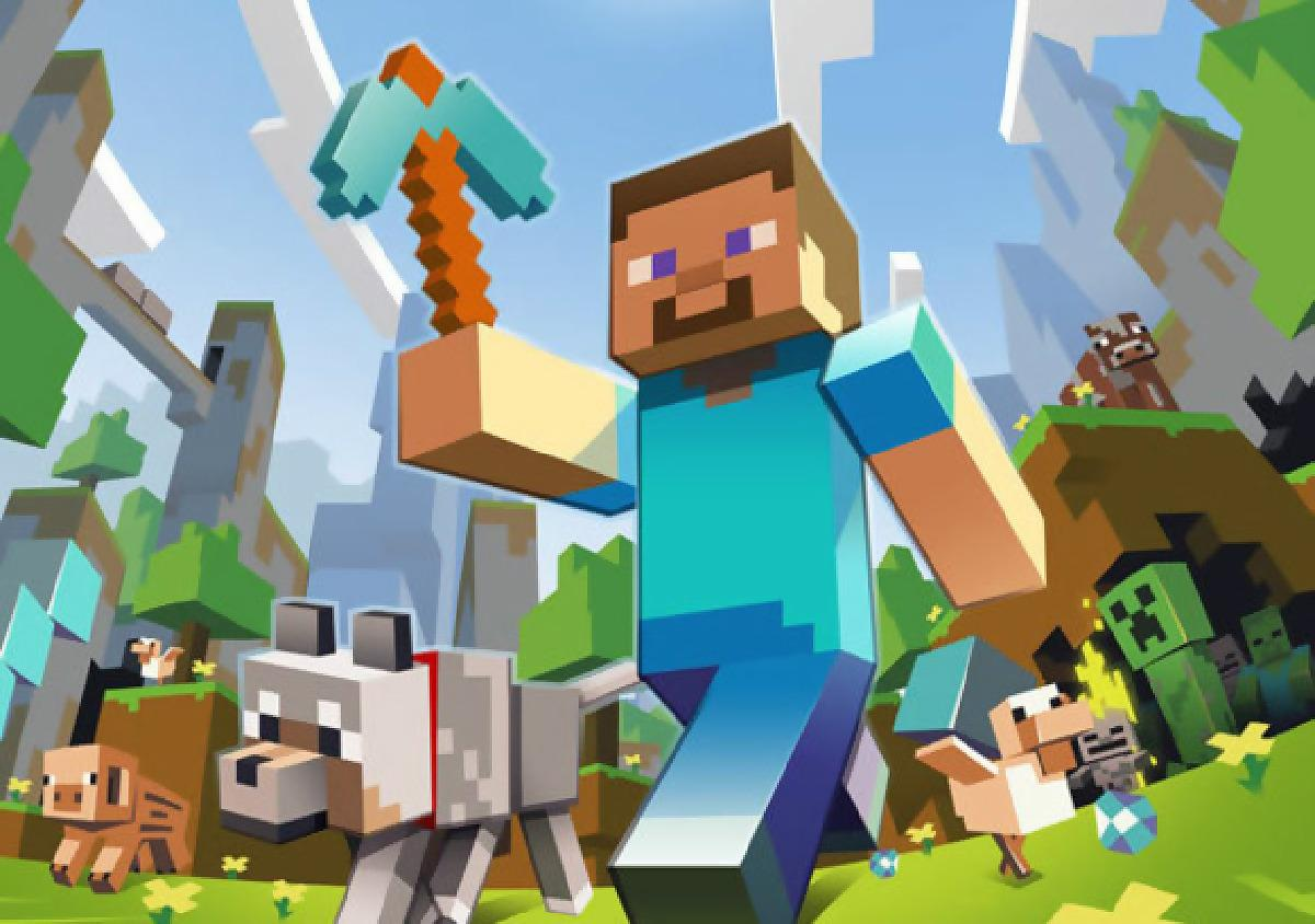 5. Minecraft, 2009 - Promotional image for Minecraft. © Mojang AB