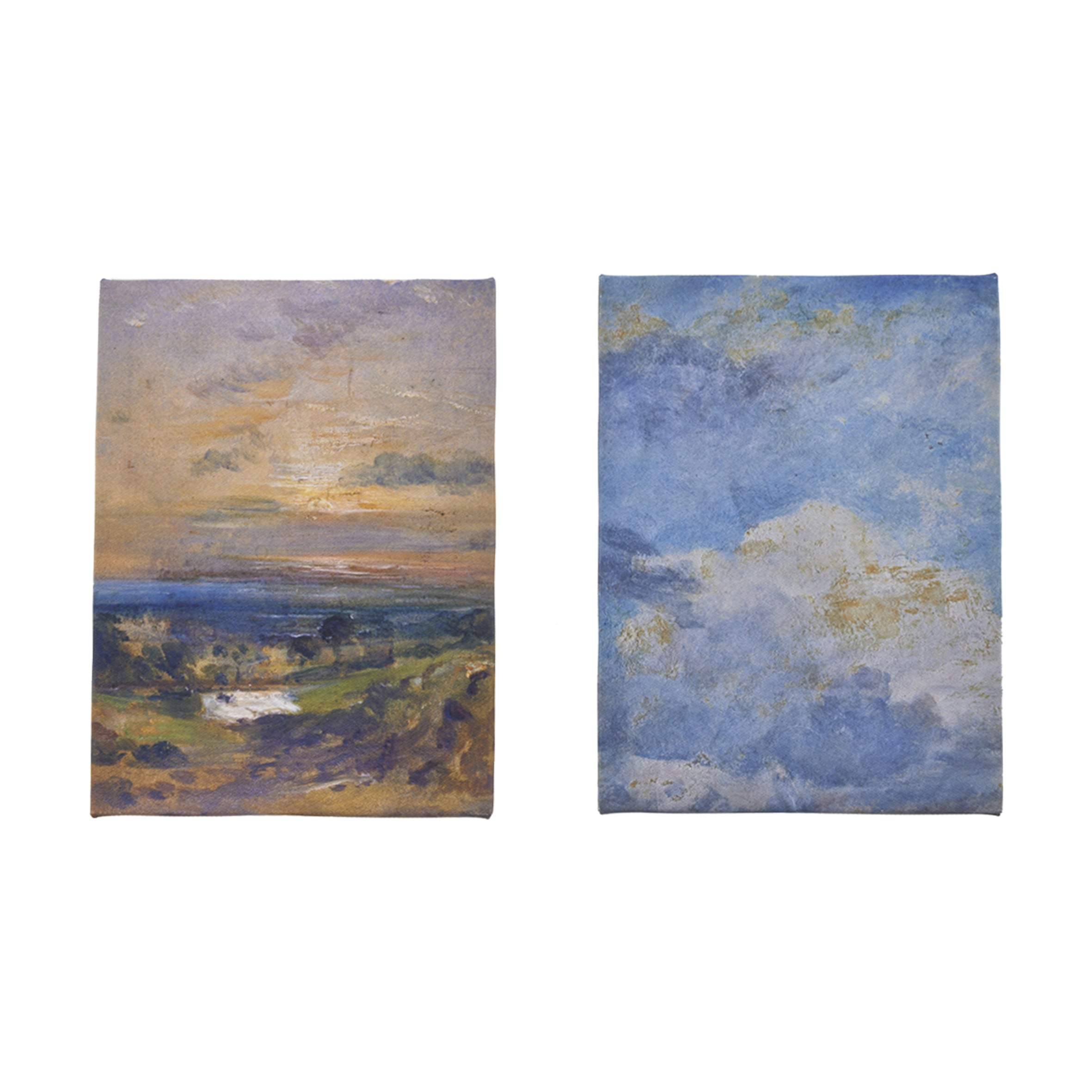 You could win a pair of canvas prints, Cloud Study and Branch Hill Pond by John Constable, about 1821-22 -
