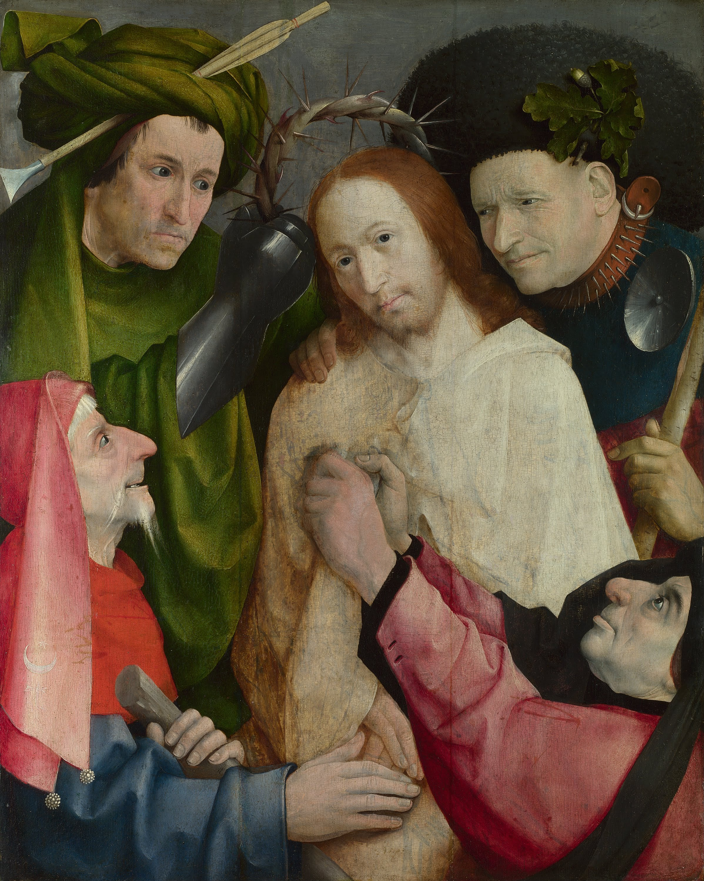 4. Hieronymus Bosch, Christ Mocked (The Crowning with Thorns), about 1490–1500 - National Gallery, London