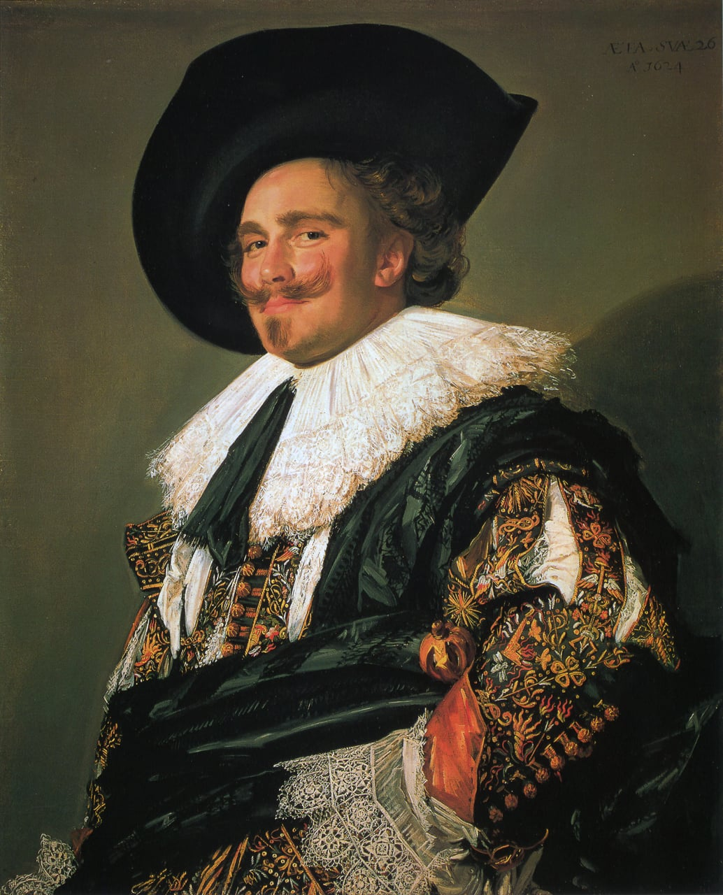 7. Frans Hals, The Laughing Cavalier, 1624 - The Wallace Collection, London