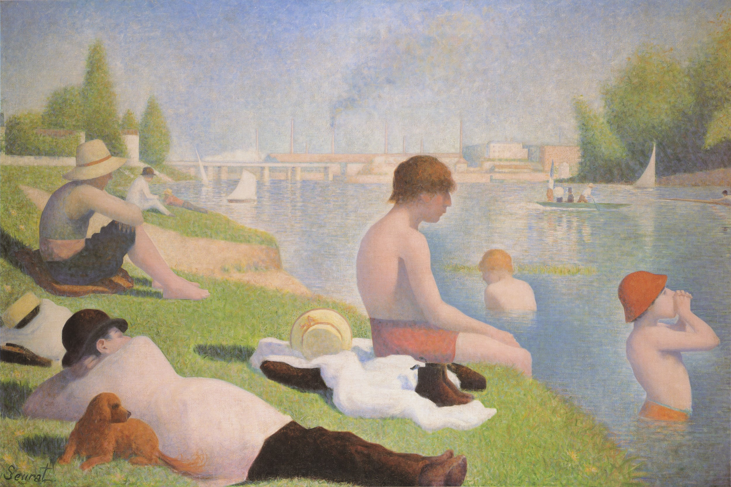 1. Georges Seurat, Bathers at Asnières, 1884 - National Gallery, London