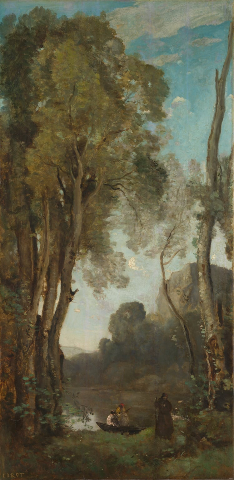 ... Jean-Baptiste-Camille Corot, The Four Times of the Day: Noon, ...