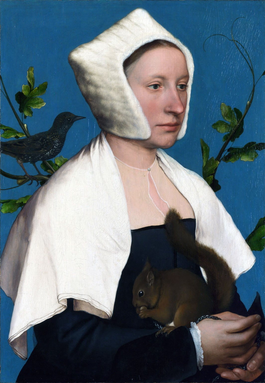 2. Hans Holbein, Lady with a Squirrel and a Starling, c. 1526–8 - National Gallery