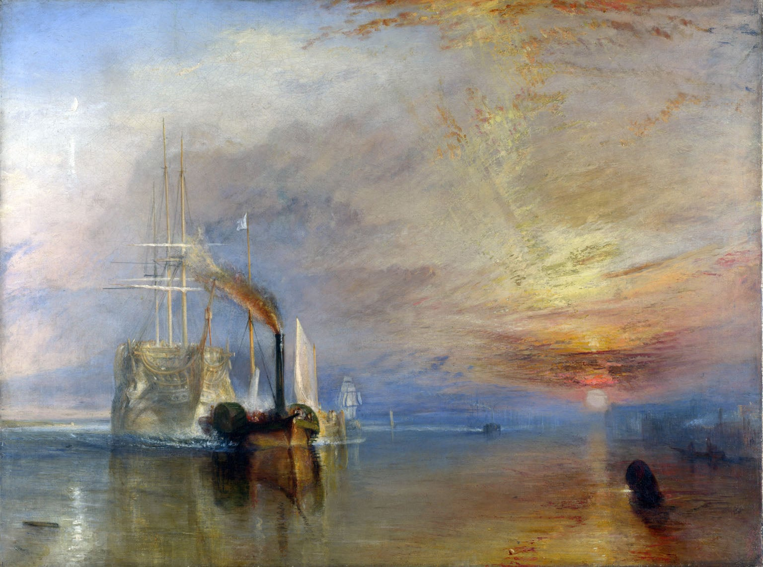 5. JMW Turner, The Fighting Temeraire, 1839 - National Gallery