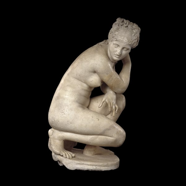 2. Defining Beauty: The Body in Ancient Greek Art, British Museum - Lely's Venus, Marble statue of a naked Aphrodite crouching at her bath, Roman copy of a Greek original, 2nd century AD. © The Trustees of the British Museum