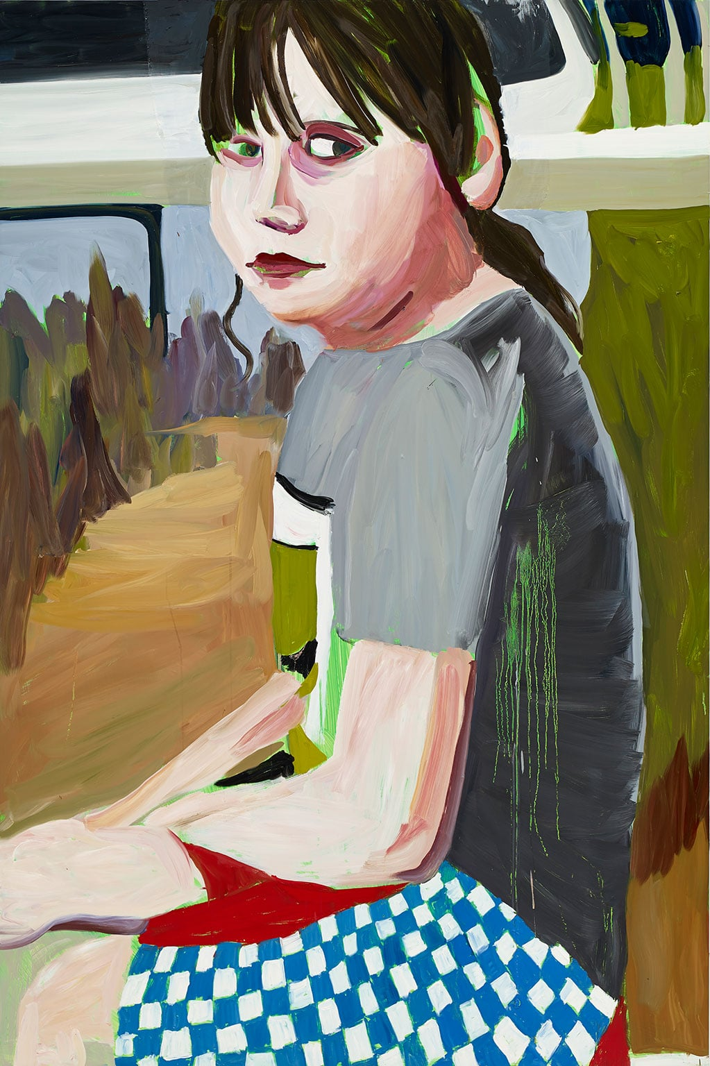 6. Chantal Joffe: Beside the Seaside, Jerwood Gallery - Chantal Joffe, Esme in a Checked Shirt, 2014. Courtesy the artist and Victoria Miro Gallery. © Chantal Joffe