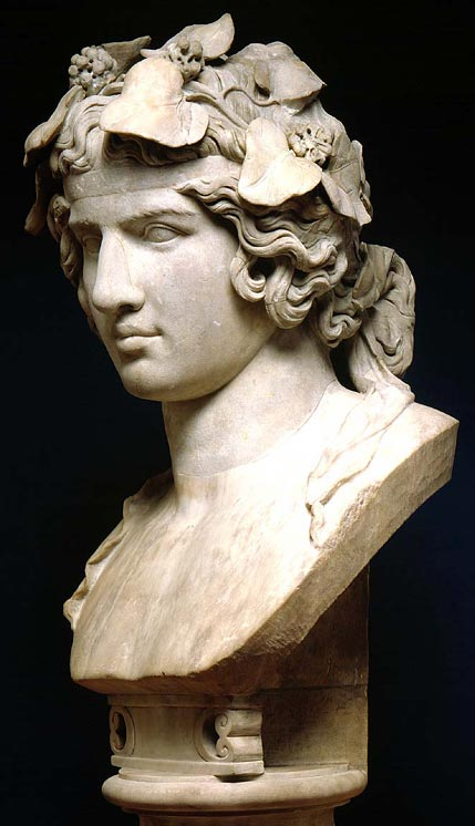 1. Bust of Antinous as Dionysos, about AD 130–158 - Fitzwilliam Museum, Cambridge