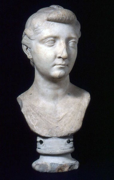4. Portrait bust of the Empress Livia, 1st century BC – early 1st century AD - World Museum, Liverpool