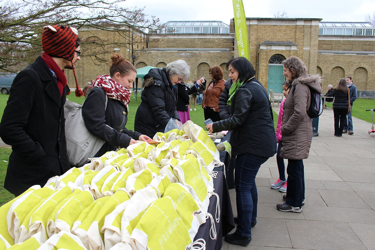 Art Miles bags at Dulwich Picture Gallery -