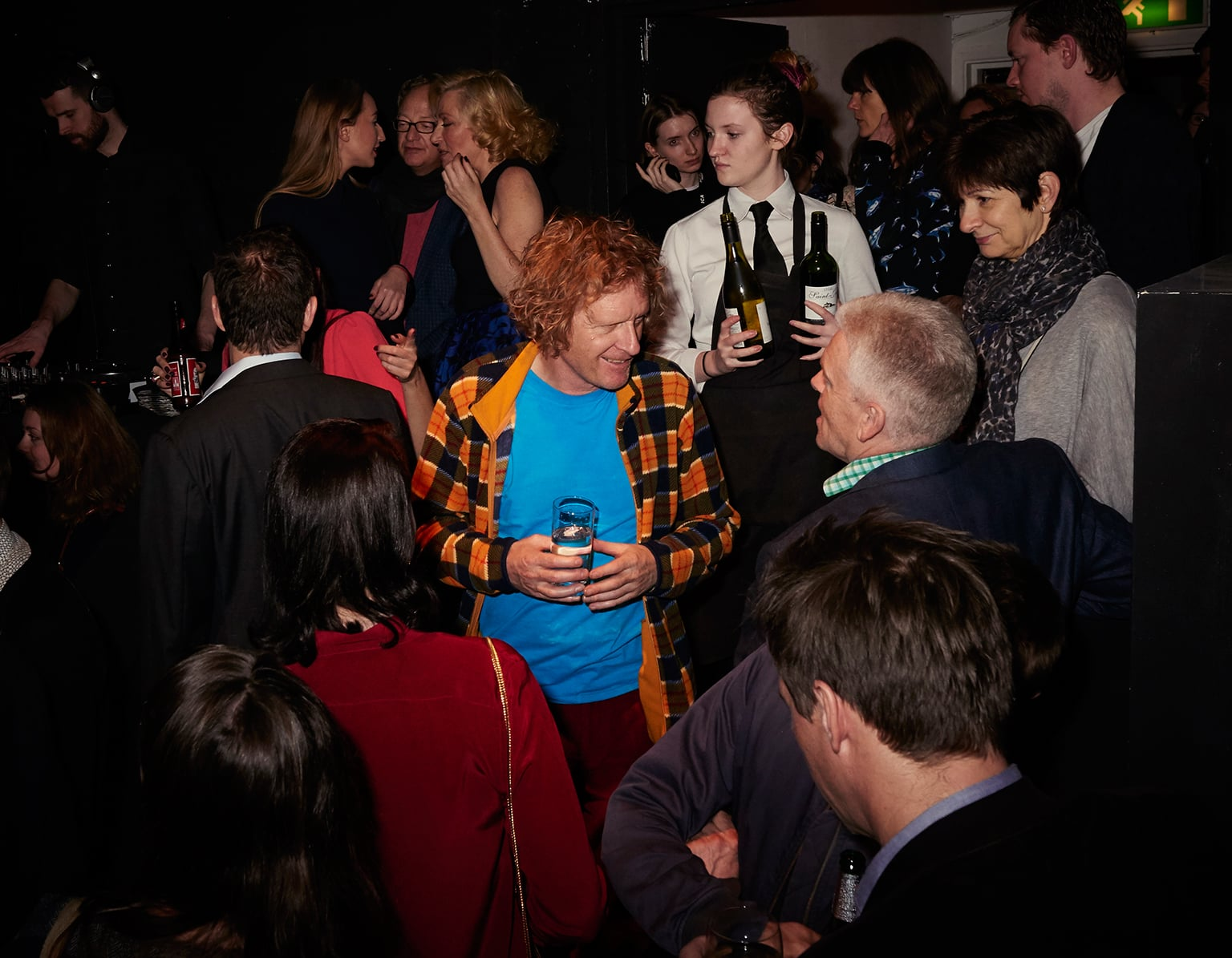 The crowd at the fig-2/Laura Eldret launch, including Grayson Perry - © Sylvain Deleu