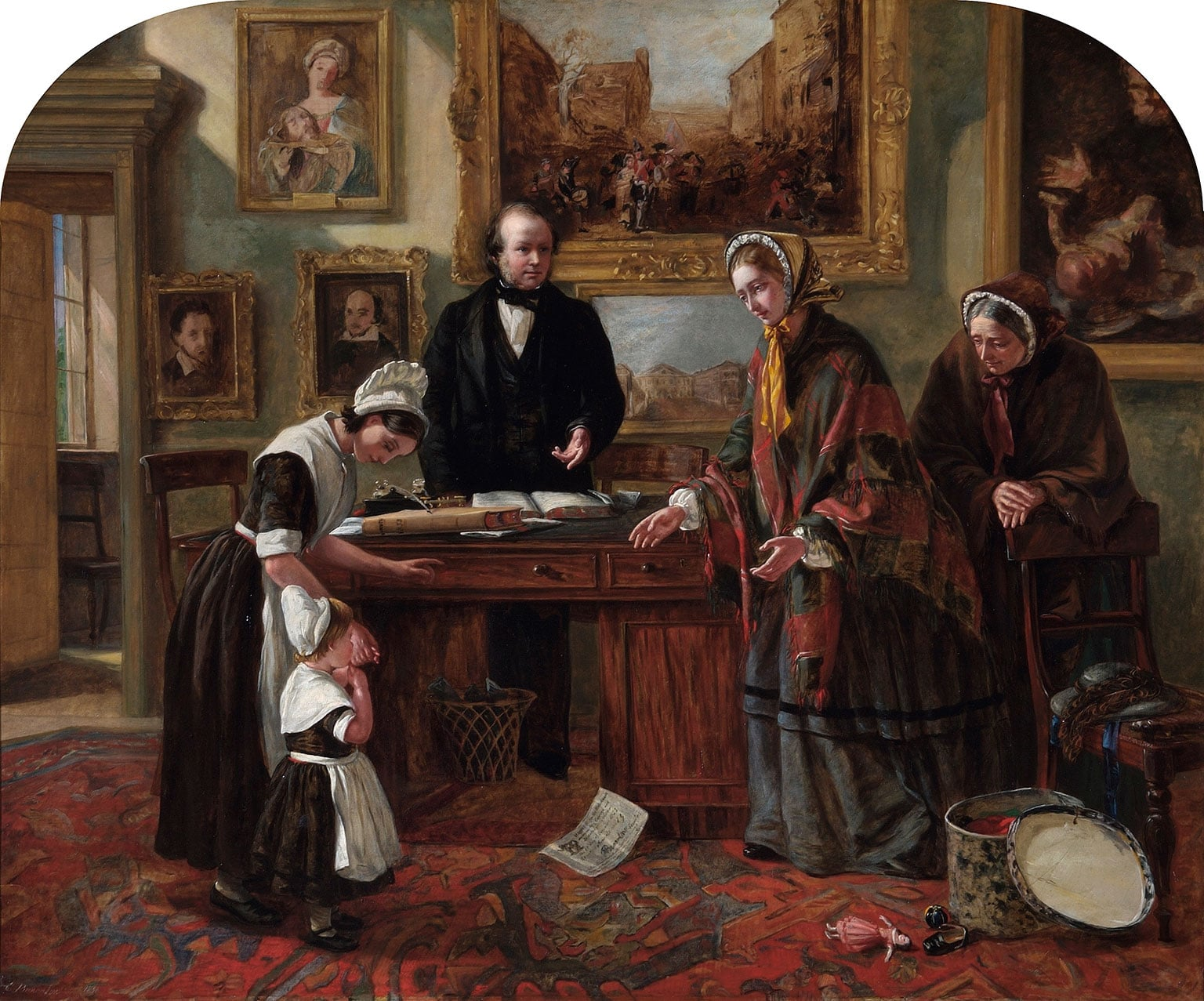 3. The Fallen Woman, The Foundling Museum - Emma Brownlo, The Foundling Restored to its Mother, 1858. Coram in the care of the Foundling-Museum