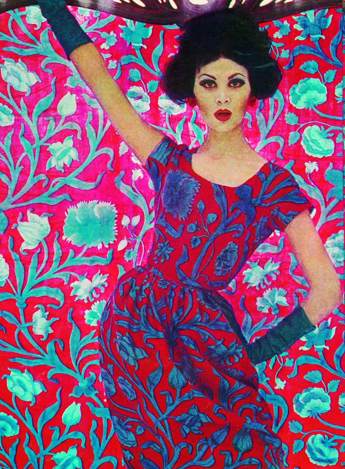 4. Liberty in Fashion, Fashion and Textile Museum. 50% off with National Art Pass - Art Nouveau fashion using 'Constantia', 1961 © Liberty London