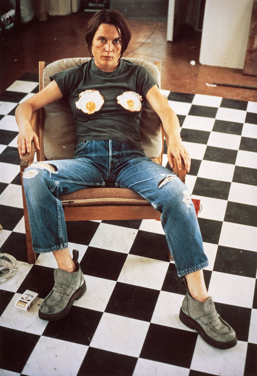 Self-Portrait with Fried Eggs, 1996 - Copyright the artist, courtesy Sadie Coles HQ, London