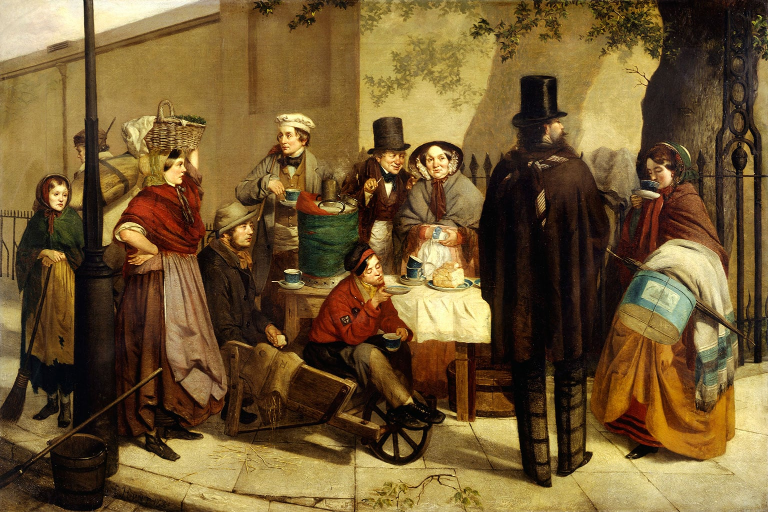 2. Robert Dowling, Breakfasting Out, 1859 - Museum of London