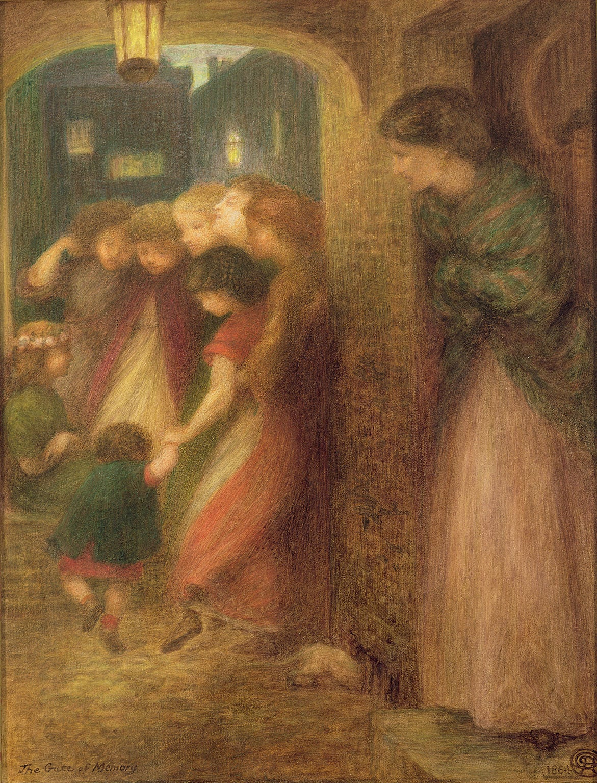 3. Dante Gabriel  Rossetti, The Gate of Memory, 1864 - © The Makins Collection