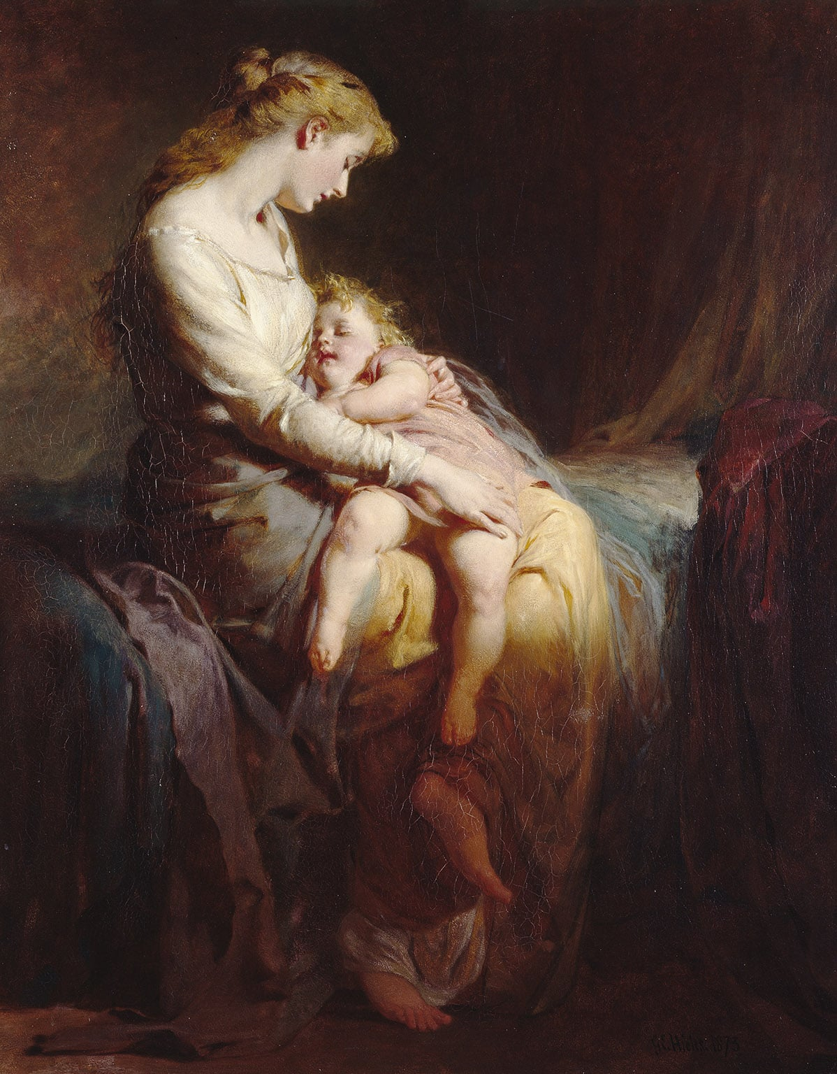 1. George Elgar Hicks, Mother and Child, 1873 - © Manchester City Art Gallery